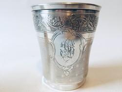 19.sz.-i francia ezüst pohár..