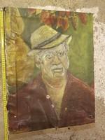 50x60, olaj, vászon, portré, szignós