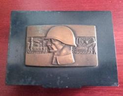Cca 1974 Varsói szerzõdés összfegyvernemi hadgyakorlat dombornyomott emlék doboz