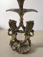 Sabbath judaika orosz bronz gyertyatartó