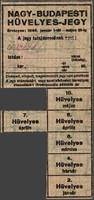 NAGY-BUDAPESTI HÜVELYES-JEGY 1946 JANUÁR 1-TŐL MÁJUS 31-IG