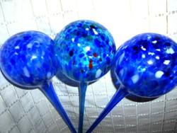 3 db egyedi muránói  kézműves üveg gömb  (virág gömb)