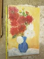 Virágcsendélet faroston, olaj, 40x60