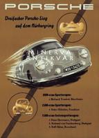 Porsche Nürburgring autóverseny automobil hirdetés cca. 1950. Vintage reklám plakát reprint