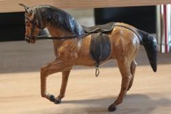 Tevebőrből készült ló, kézzel festett igényes aprólékos élethű ábrázolás