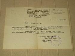 MKISZ meghívó, 1954