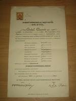 F. Antal Elemér rajztanítói oklevele (1934)