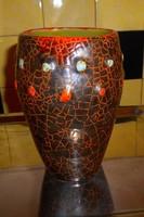Gorka stílusában retro kerámia  váza, 18 cm