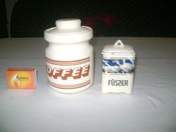 Antik és retro kerámia fűszertartó - kávés, liba mintás