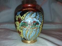 Különleges drasche porcelán szignós keleti motívummal