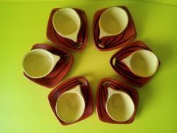 Retro kerámia Tófej kávés készlet 6 személyes
