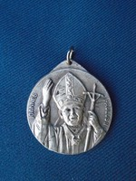 II. János Pál Pápa nagyobb méretű medál vatikáni térrel  nagyon igényes munka