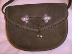 Ezüsttel antik egyedi készítésű  bársony táska ritkaság