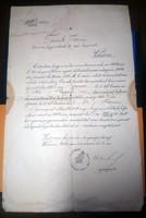 Tácsik István váczi fegyőr szerződése 1904ből Királyi Országos Fegyintézeti Igazgatóság Vácz