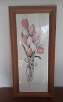 Tulipános kép, dekoráció