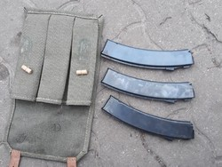 Ajev PPS-43 géppisztoly (puska) tár 3db, tártáskával