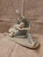 Paul Sebastían porcelán balerina és bohóc