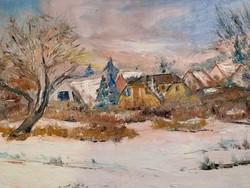 Ajándéknak ,téli festmény-olcsón