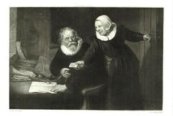 Rembrandt Van Rijn 150 éves csodálatos rézkarc!!!