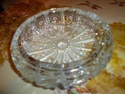 Ólomkristály  üveg hamutál -súlyos, masszív darab