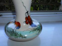 Kínai kézzel festett  váza
