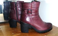 Lasocki bordó női természetes bőr bokacipő,bokacsizma,bakancs, 38-as,újszerű,keveset használt
