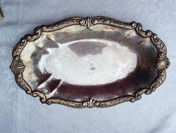 Ezüstözött tálca 34,5 x 20,5 cm