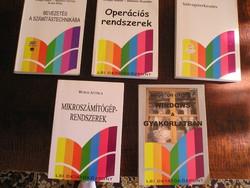 Számítástechnikai könyvcsomag + könyvdoboz - 13 db.