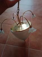 Olasz mennyezeti lámpa fém és tejüveg