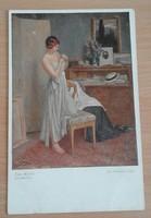 Régi képeslap Wiener Kunst