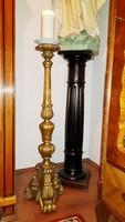 Gyönyörű Antik Barokk fa állólámpa vagy gyertyatartó 100cm