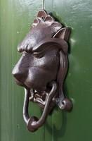 Kopogtató, ajtódísz oroszlánfejes alakú (K)