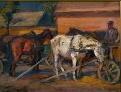Chiovini Ferencz (1899-1981): Szekérből kifogva