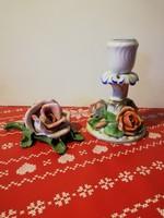 Herendi rózsa és gyertyatartó