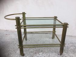 Art nouveau réz Zsúrkocsi, szerviz asztal