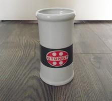 Retro régi hollóházi porcelán korsó Gyöngy italos üdítős