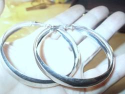 Olasz Óriás Karika designer Tibeti Ezüst Fülbevaló