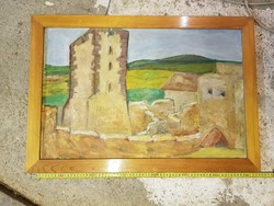 A Nagyvázsonyi vár, olaj, vászon, kb.44x69