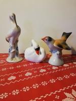 3 darab, gyönyörű madárfigura, porcelán