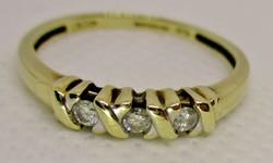 Szépséges gyémántköves arany gyűrű