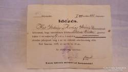 Idézés Himlőoltásra 1925