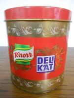 Knorr Delikát fűszertartó fémdoboz dombormintás 10*9 cm