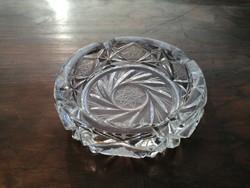 Kristály vastag falú hamutartó 13 cm (44)