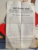 1865-ös irat, Nemes Béla (Magyar Népközt. Képzőműv.Alap) gyűjteménye
