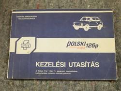 Régi, Veterán,Polski Fiat 126p kezelési útmutató,