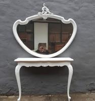 Konzolasztal,tükör