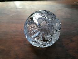 Kristály vastag falú gömb alakú hamutartó? 9 cm (45)