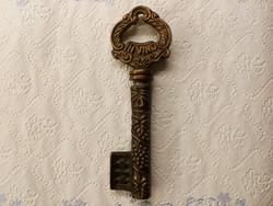 Régi  bronz /réz /dugó húzó, kulcs alakú