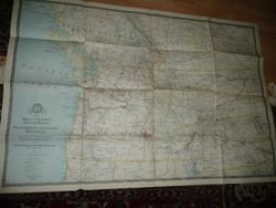 2 db Antik nagy méretű ÉNY USA  térkép 1941 - NG Washington  Mérete: 92*62 cm