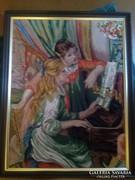 Goblein kép : Zongorázó lányok
